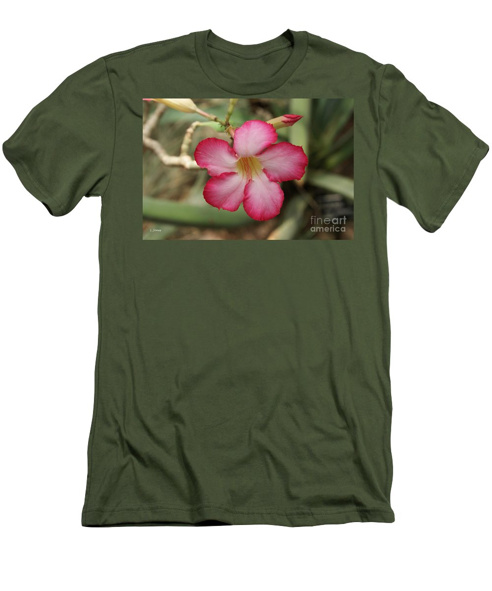 Floral Men's T-Shirt (Athletic Fit) featuring the photograph Elegant by Shelley Jones