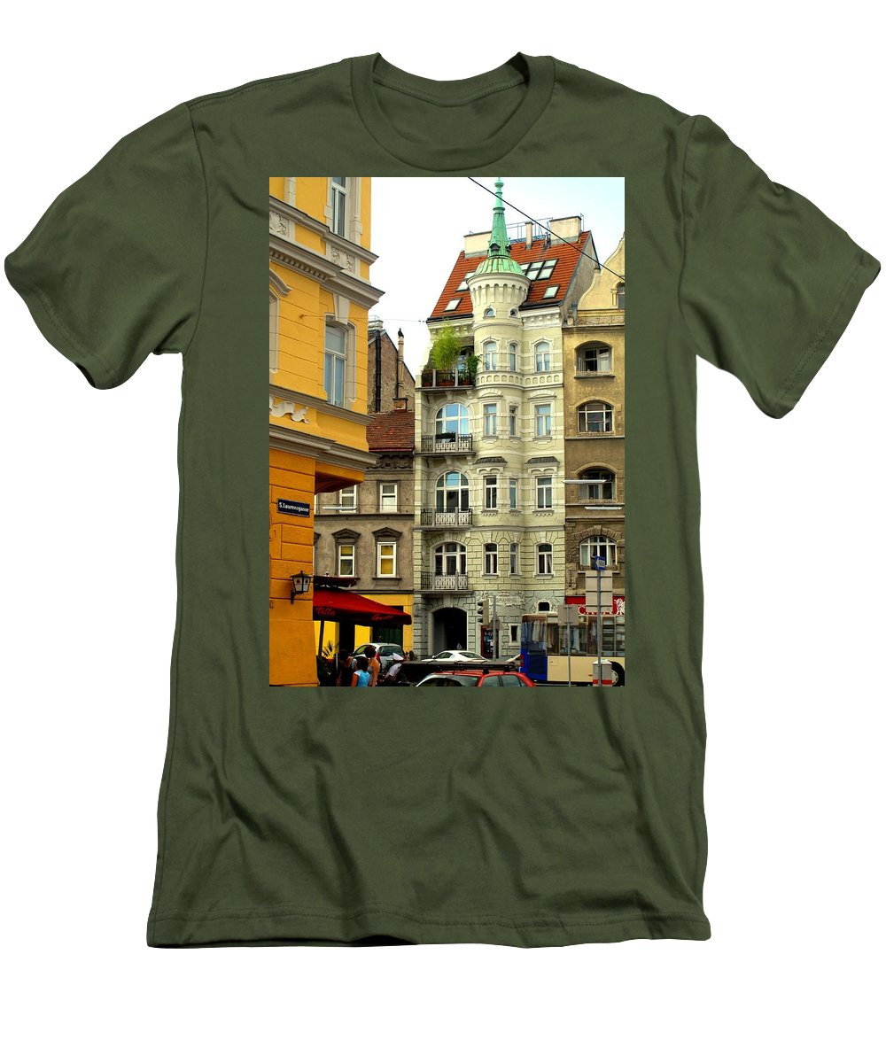 Vienna Men's T-Shirt (Athletic Fit) featuring the photograph Elegant Vienna Apartment Building by Ian MacDonald