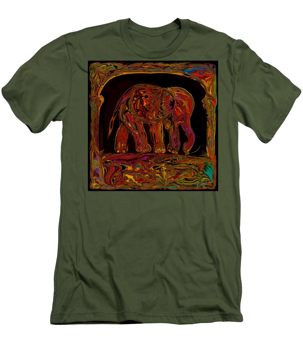 Animal Men's T-Shirt (Athletic Fit) featuring the digital art Elephant by Rabi Khan