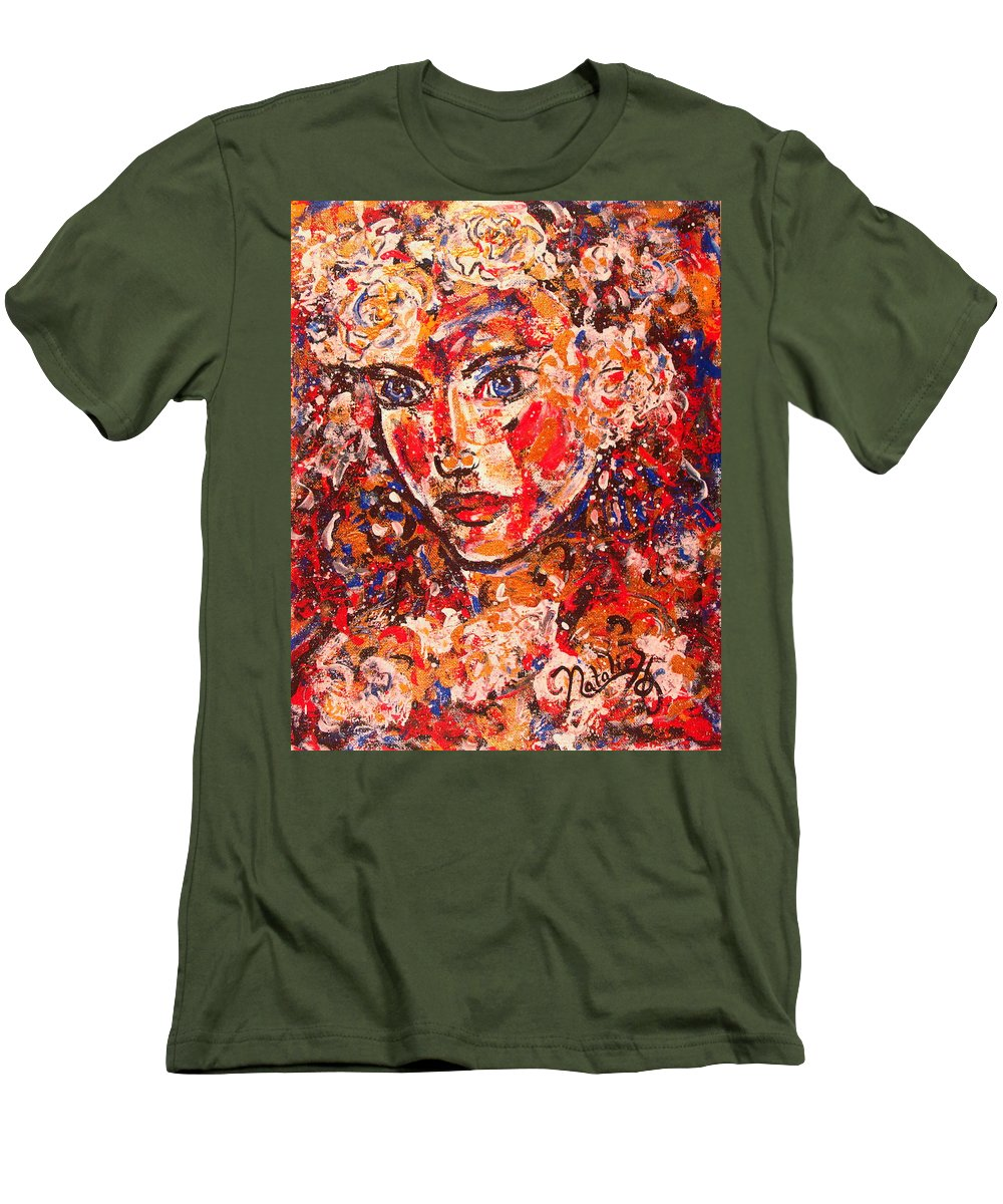 Female Men's T-Shirt (Athletic Fit) featuring the painting Elizabeth by Natalie Holland