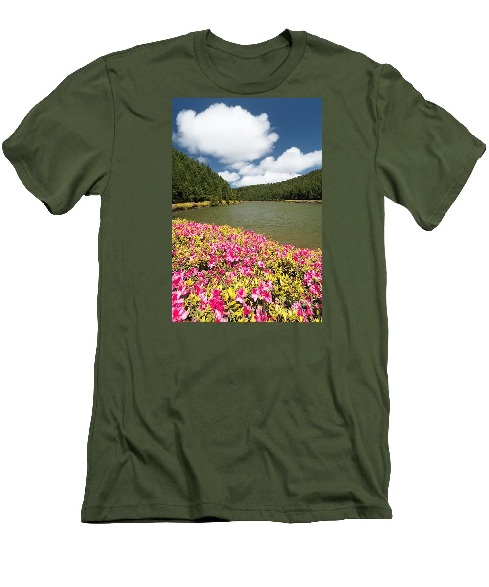 Portugal Men's T-Shirt (Athletic Fit) featuring the photograph Empadadas Lakes II by Gaspar Avila