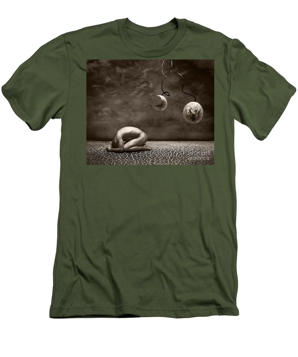 Surreal Men's T-Shirt (Athletic Fit) featuring the photograph Emptiness by Jacky Gerritsen