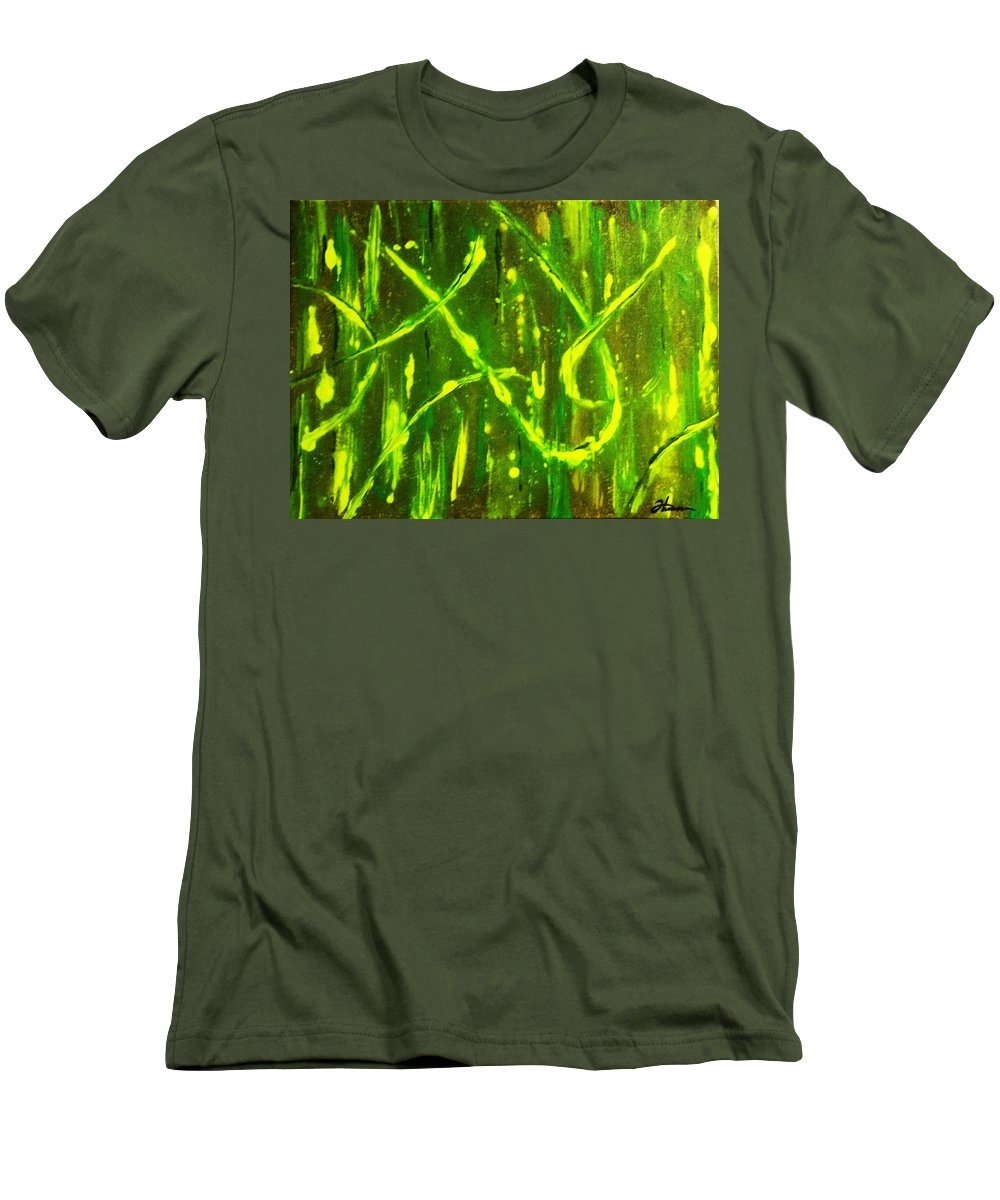 Abstract Men's T-Shirt (Athletic Fit) featuring the painting Envy by Todd Hoover