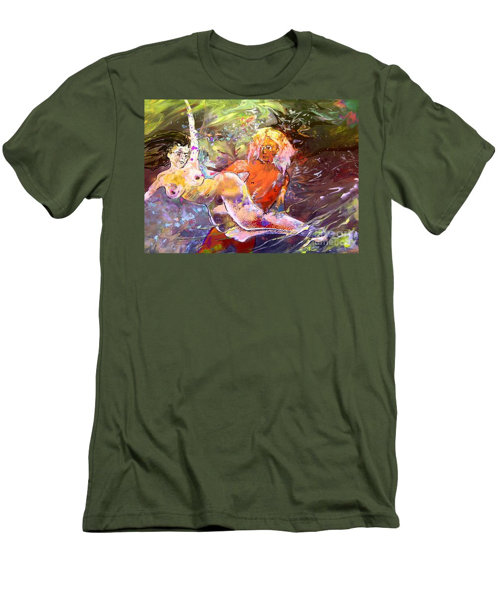 Miki Men's T-Shirt (Athletic Fit) featuring the painting Erotype 06 1 by Miki De Goodaboom