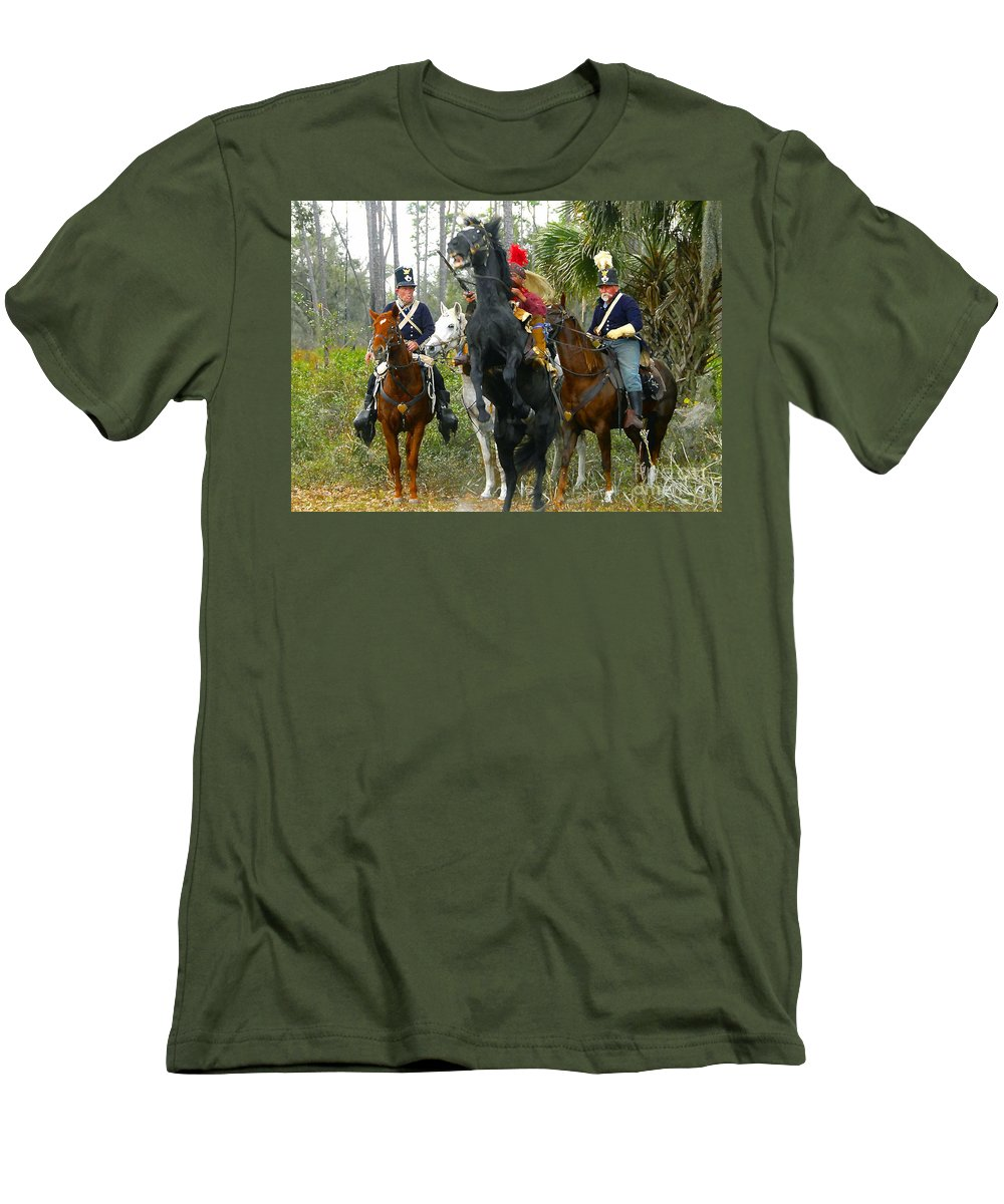 Seminole Indians Men's T-Shirt (Athletic Fit) featuring the photograph Escape Of Billy Bowlegs by David Lee Thompson