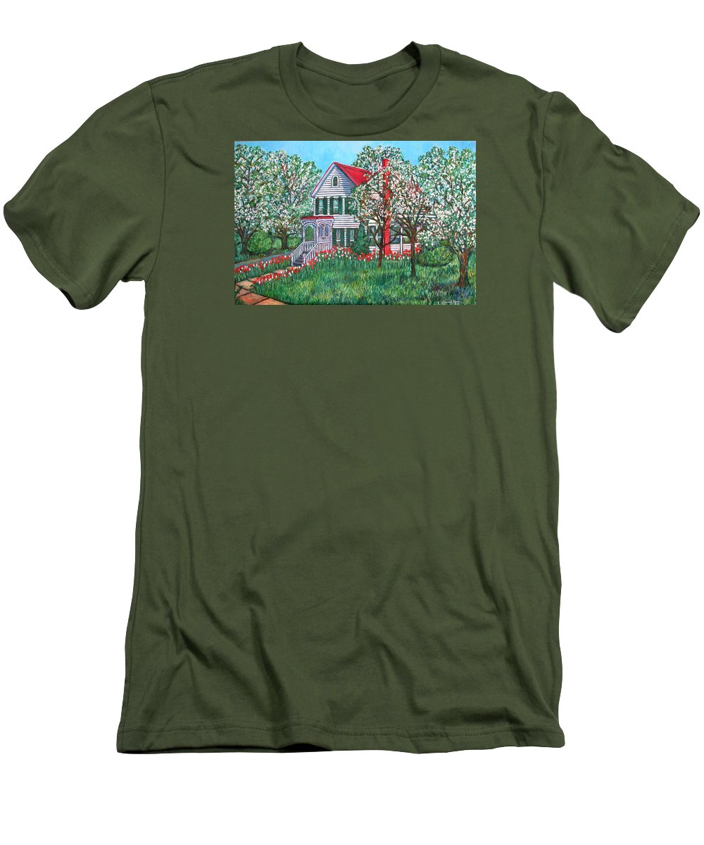Home Men's T-Shirt (Athletic Fit) featuring the painting Esther's Home by Kendall Kessler