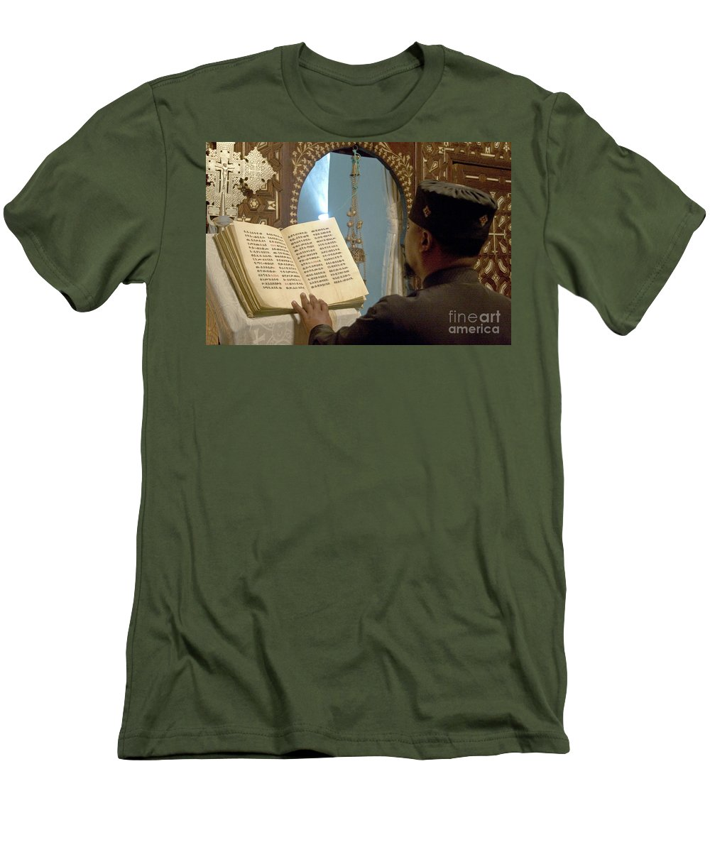 Christian Men's T-Shirt (Athletic Fit) featuring the photograph Ethiopian Priest by Danny Yanai