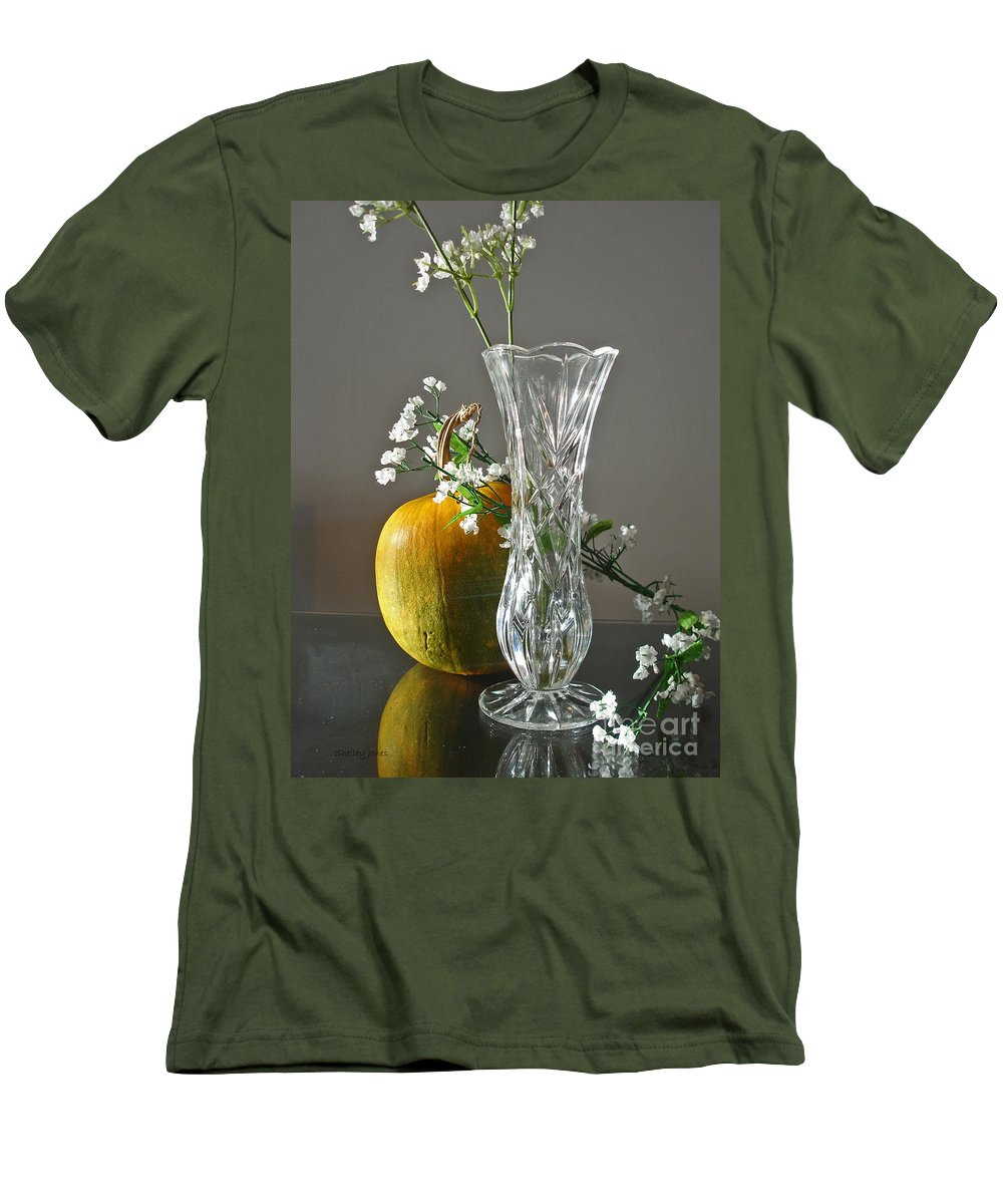Still Life Men's T-Shirt (Athletic Fit) featuring the photograph Everlasting Harvest by Shelley Jones