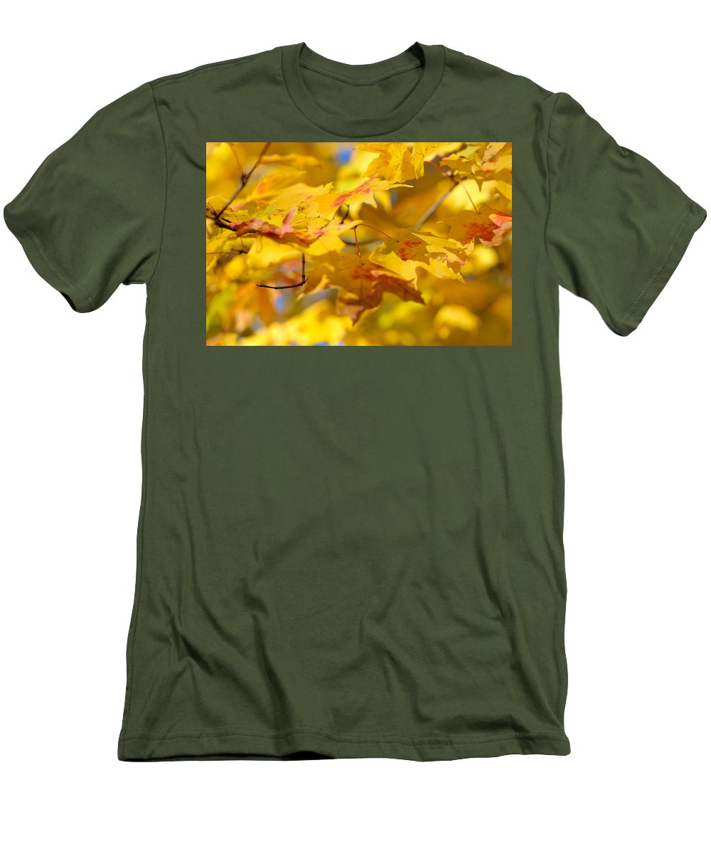 Nature Men's T-Shirt (Athletic Fit) featuring the photograph Fall Colors by Sebastian Musial