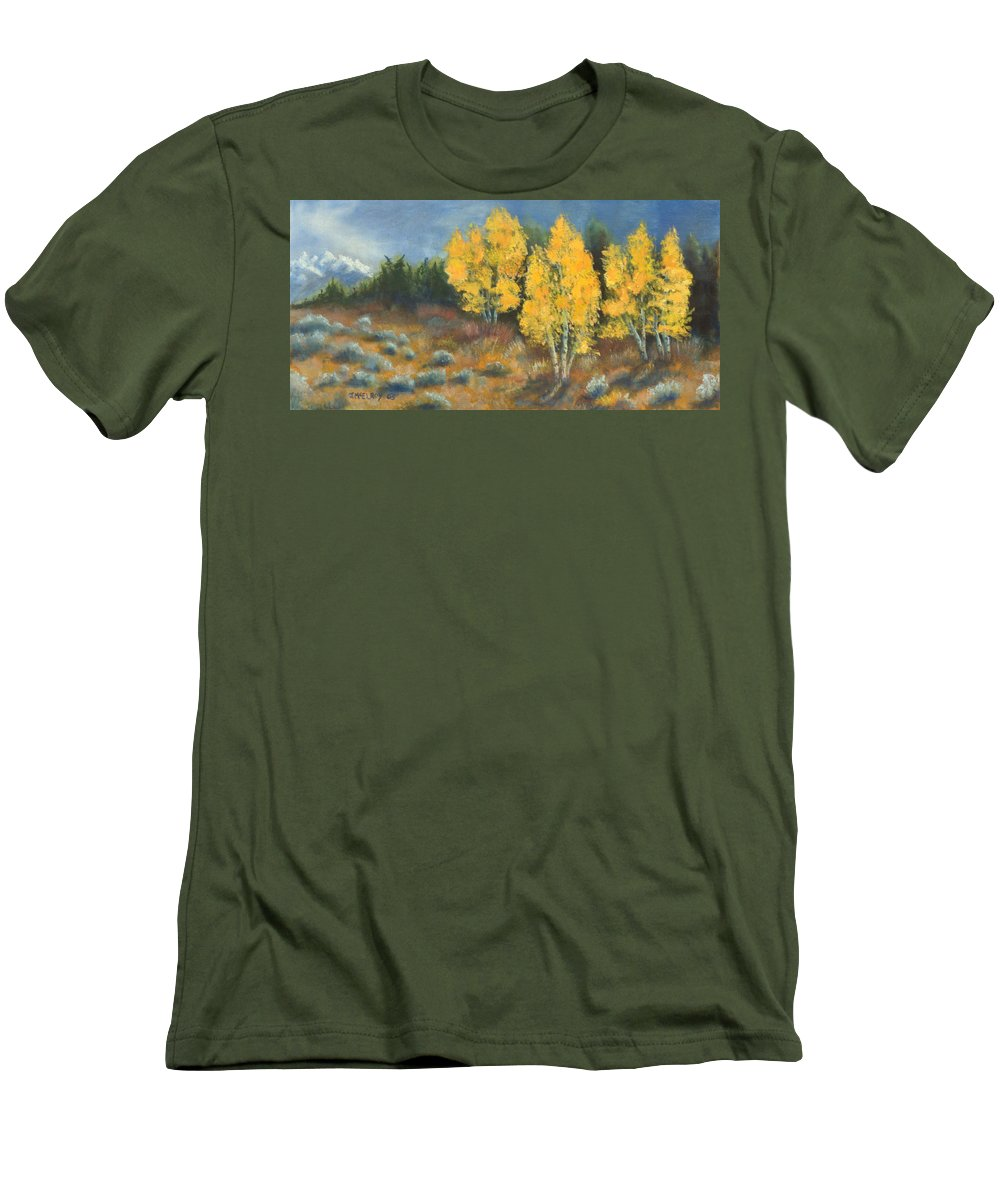 Landscape Men's T-Shirt (Athletic Fit) featuring the painting Fall Delight by Jerry McElroy