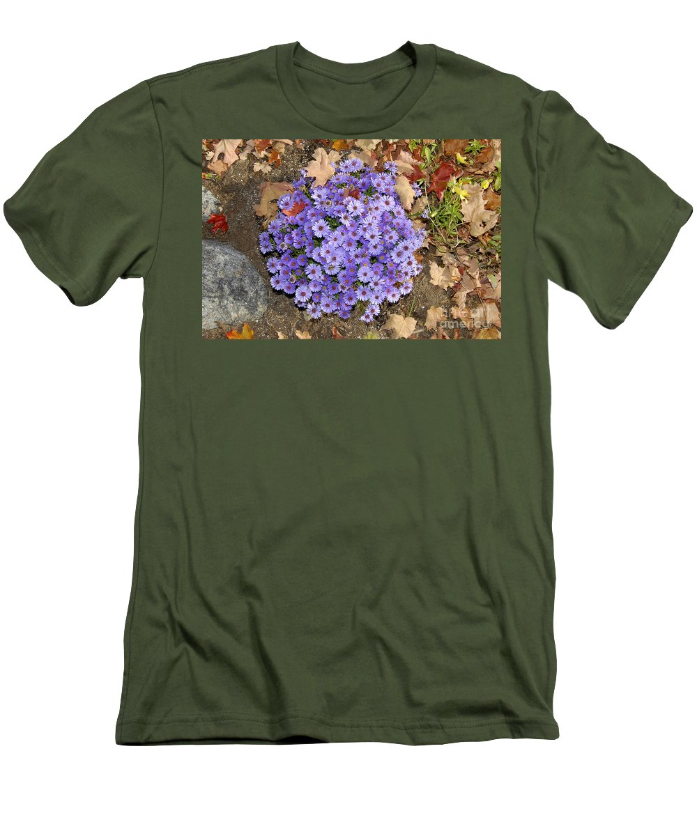 Fall Men's T-Shirt (Athletic Fit) featuring the photograph Fall Flowers by David Lee Thompson