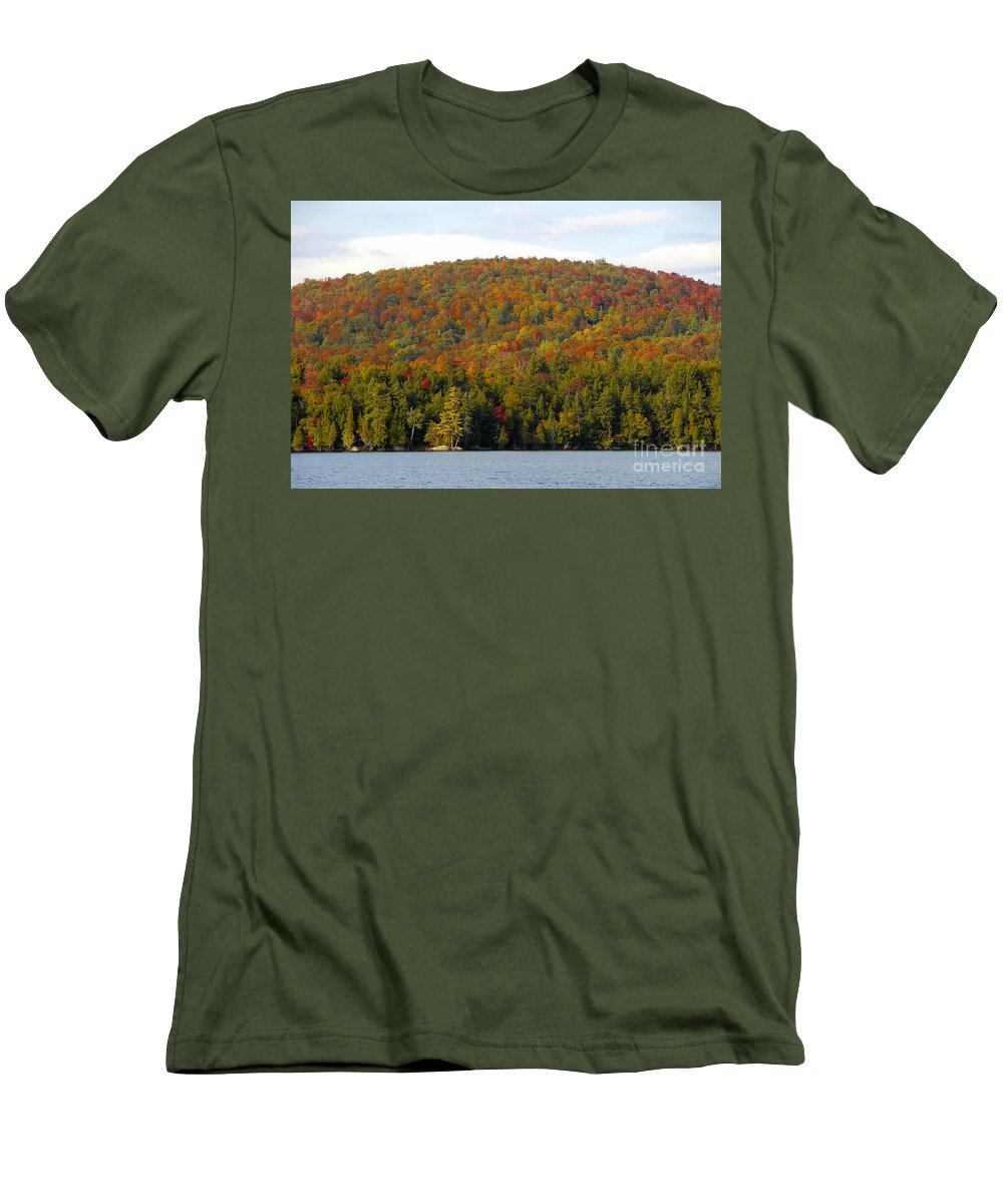 Fall Men's T-Shirt (Athletic Fit) featuring the photograph Fall Island by David Lee Thompson