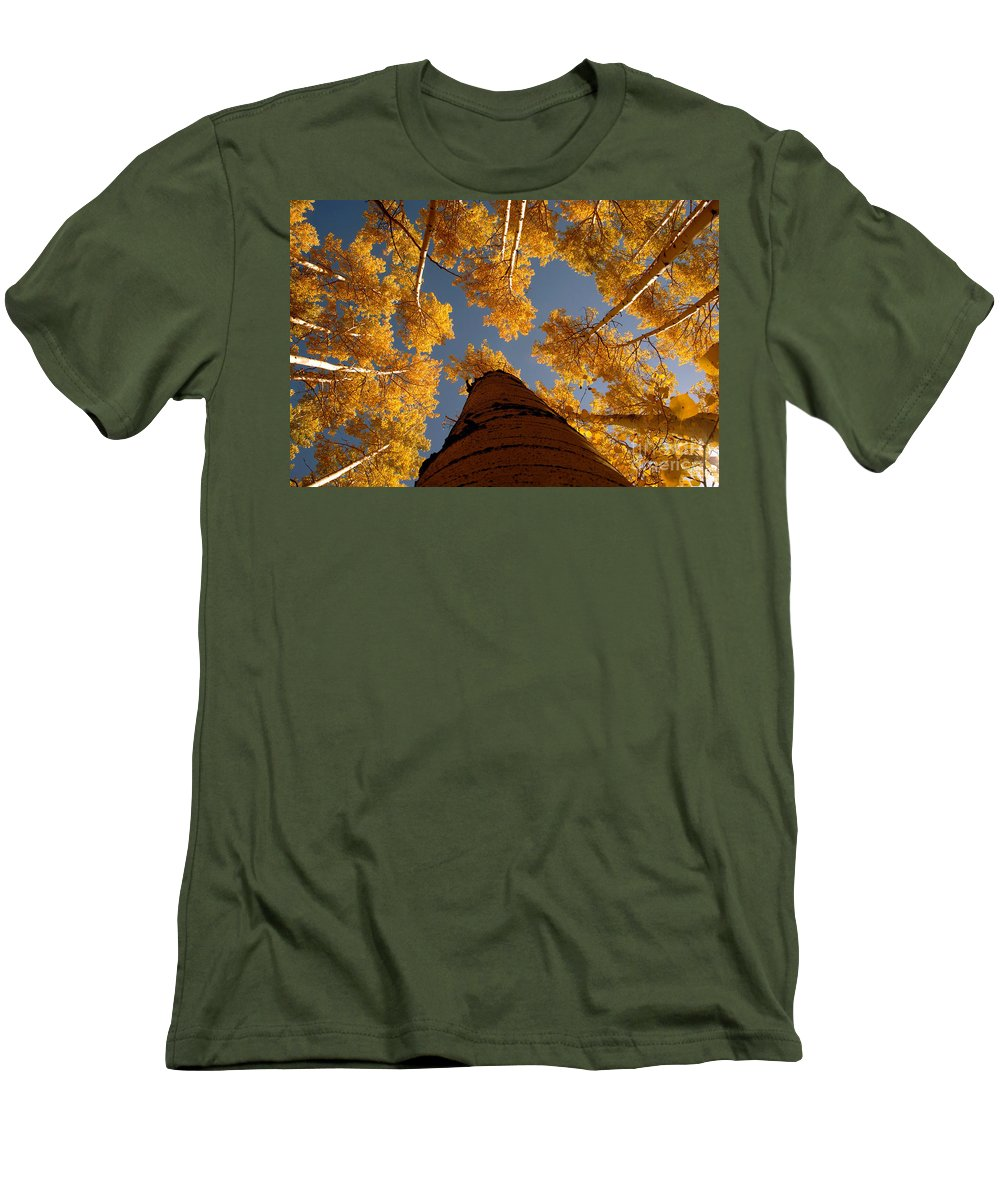 Fall Men's T-Shirt (Athletic Fit) featuring the photograph Falling Sky by David Lee Thompson