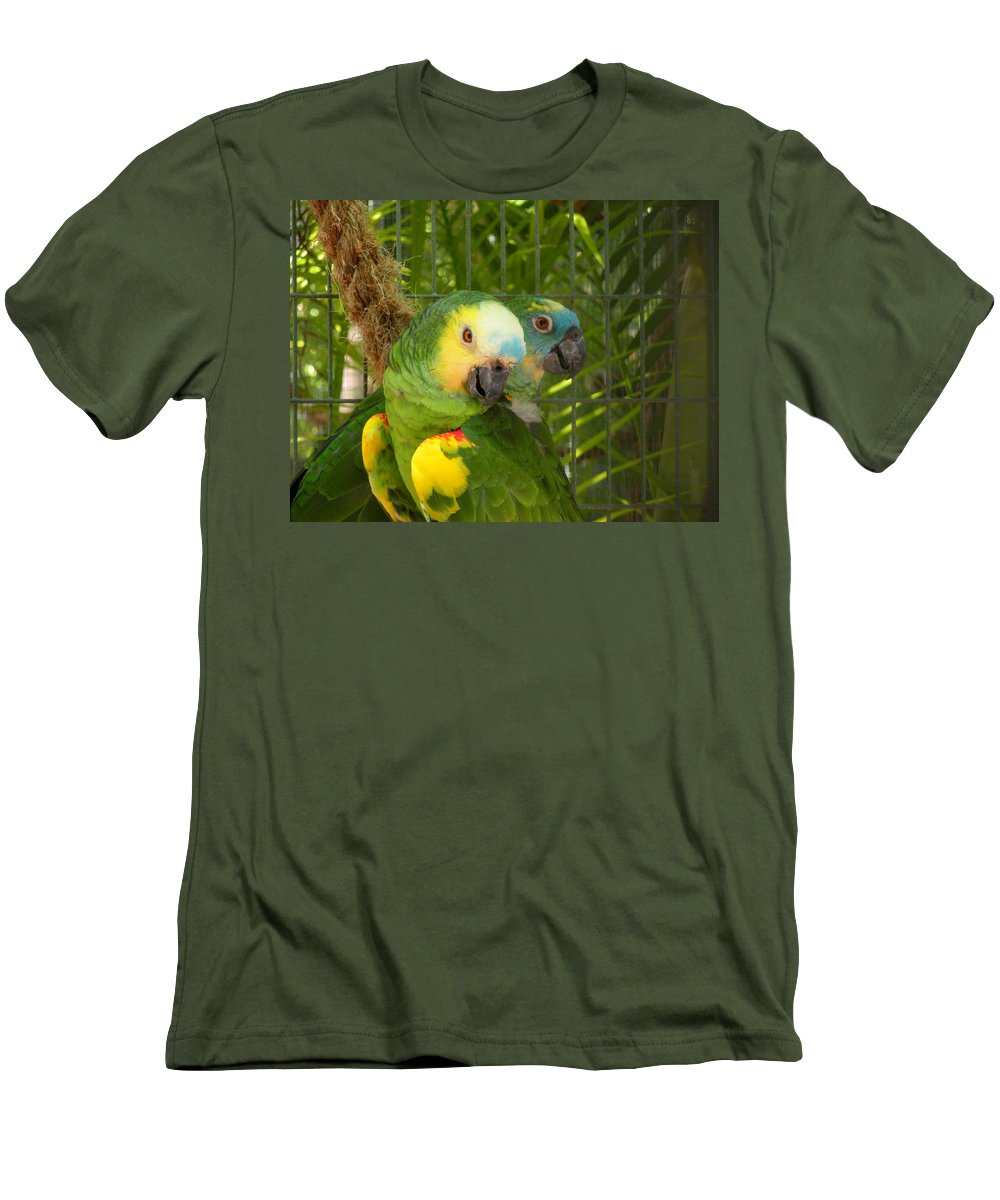 Birds Men's T-Shirt (Athletic Fit) featuring the photograph Feathered Friends by Maria Bonnier-Perez