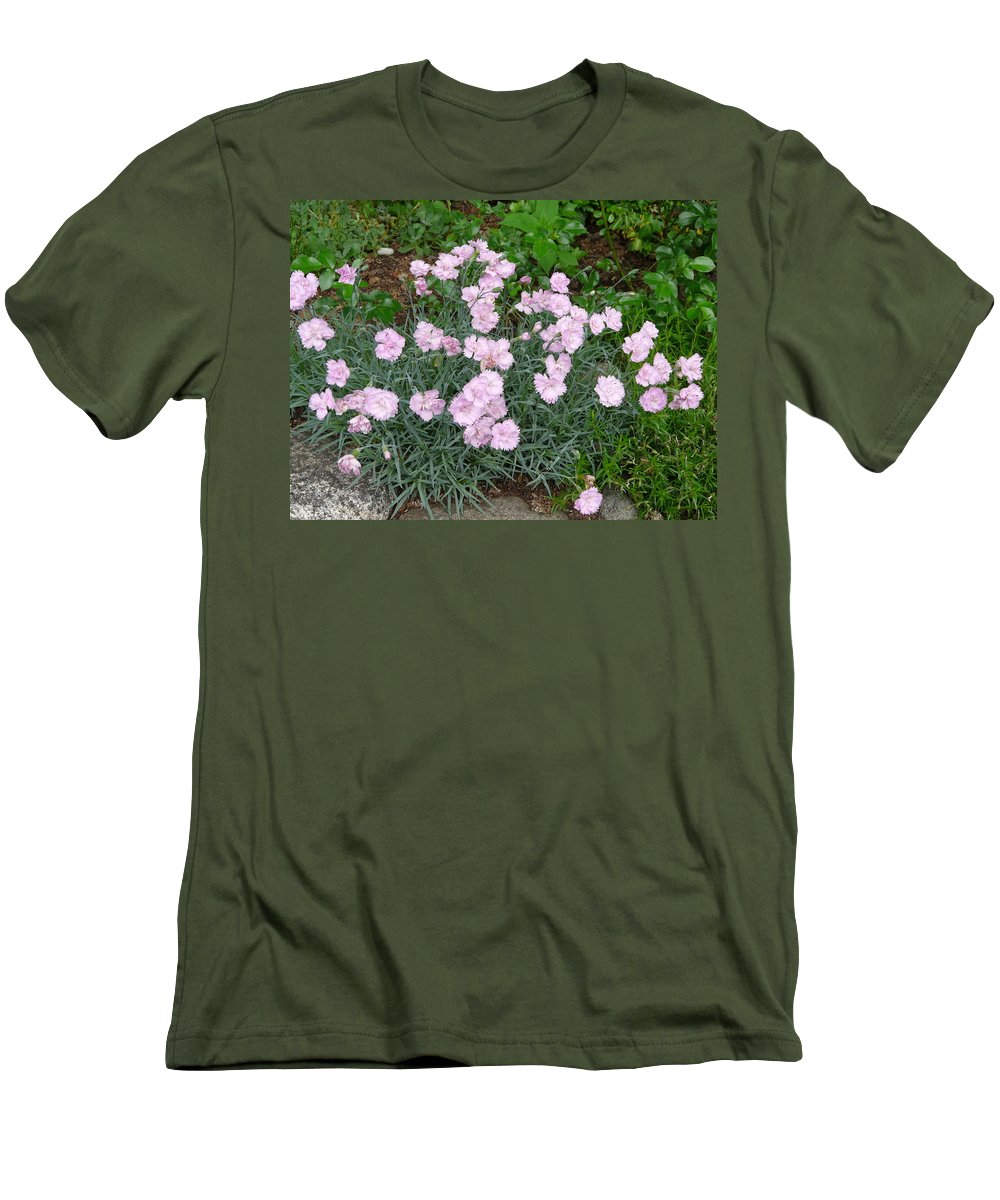 Flower Men's T-Shirt (Athletic Fit) featuring the photograph Feathered Pink by Valerie Ornstein