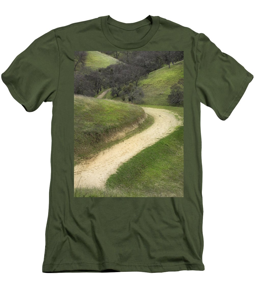 Landscape Men's T-Shirt (Athletic Fit) featuring the photograph February Green by Karen W Meyer