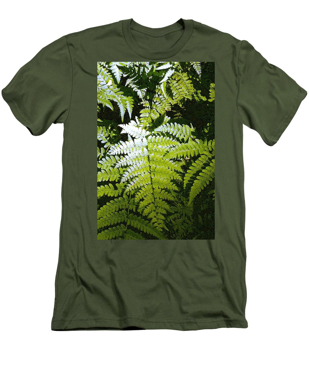 Ferns Men's T-Shirt (Athletic Fit) featuring the photograph Ferns by Nelson Strong