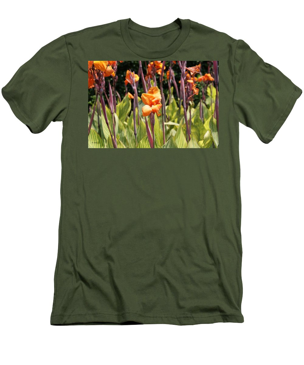 Floral Men's T-Shirt (Athletic Fit) featuring the photograph Field For Iris by Shelley Jones