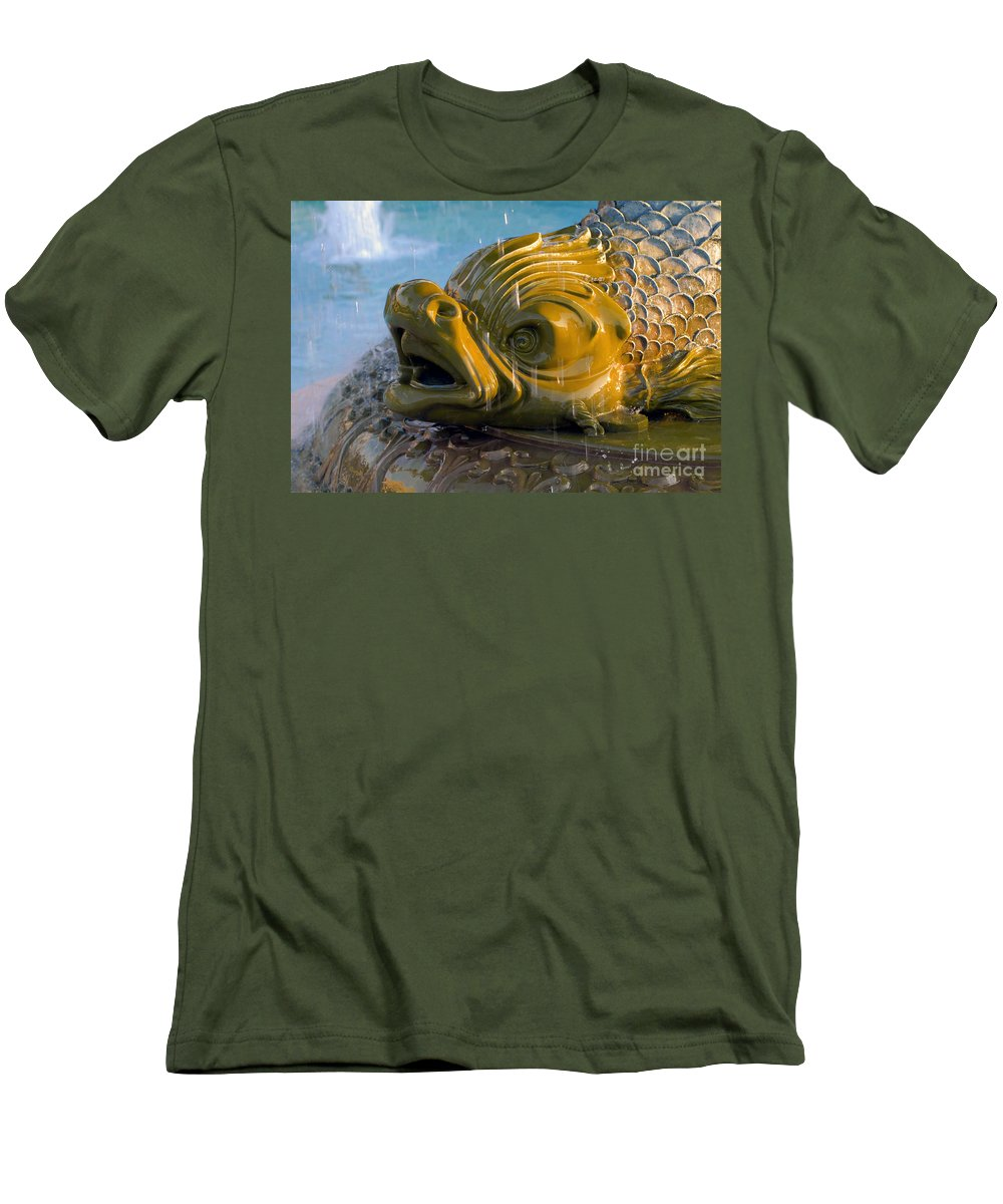 Fish Men's T-Shirt (Athletic Fit) featuring the photograph Fish Out Of Water by David Lee Thompson