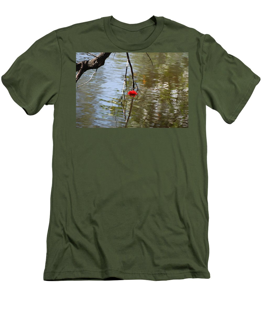 Water Men's T-Shirt (Athletic Fit) featuring the photograph Floating Flower by Rob Hans