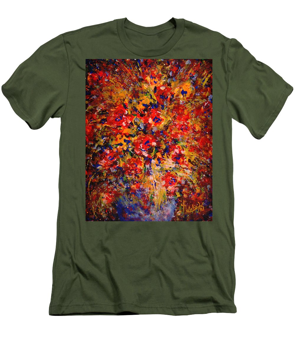 Flowers Men's T-Shirt (Athletic Fit) featuring the painting Floral Feelings by Natalie Holland