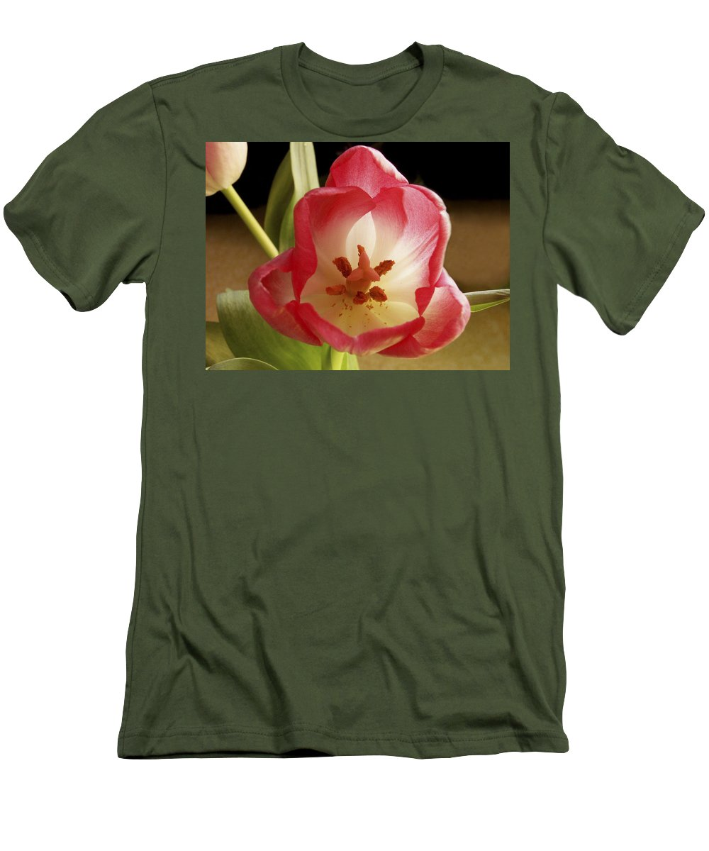 Flowers Men's T-Shirt (Athletic Fit) featuring the photograph Flower Tulip by Nancy Griswold
