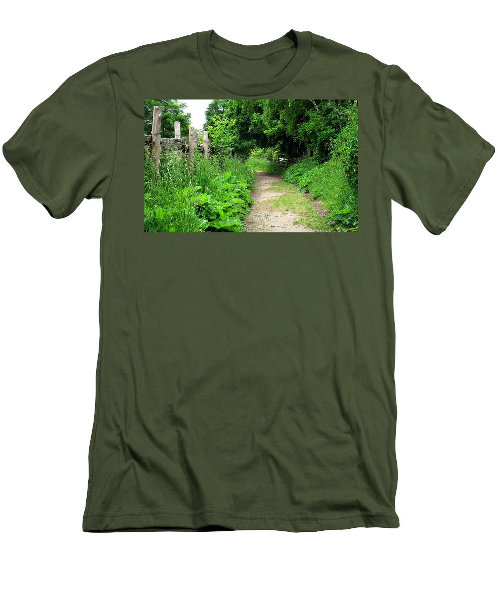 Path Men's T-Shirt (Athletic Fit) featuring the photograph Follow by Ian MacDonald