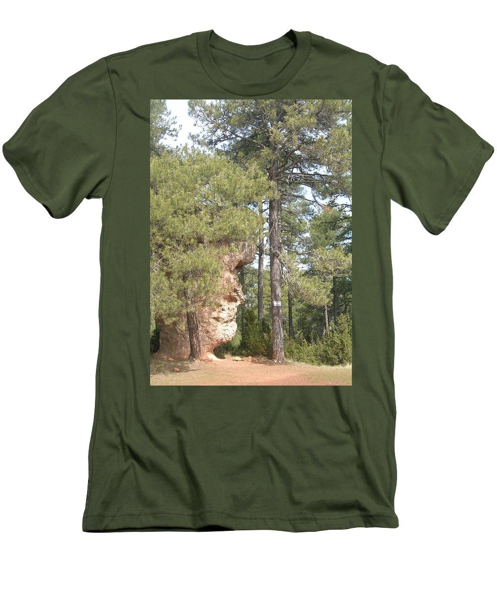 Landscape Men's T-Shirt (Athletic Fit) featuring the photograph Forest Face by Valerie Ornstein