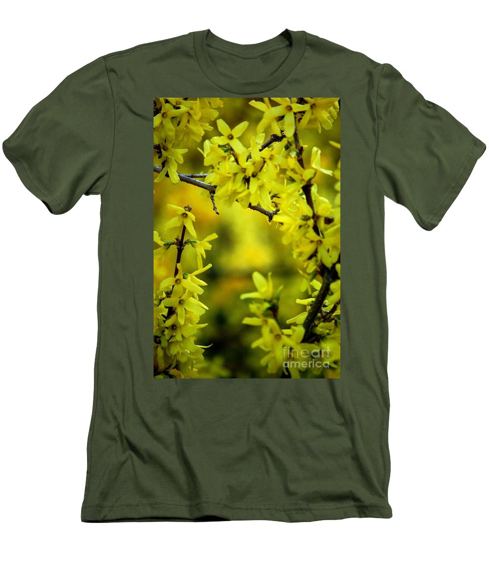 Spring Men's T-Shirt (Athletic Fit) featuring the photograph Forsythia At The Hacienda by David Lane