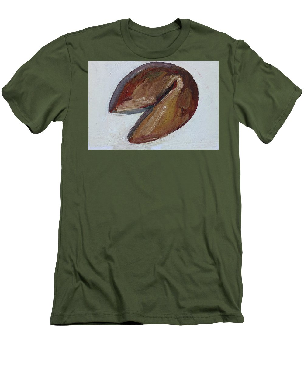 Fortune Cookie Men's T-Shirt (Athletic Fit) featuring the painting Fortune Cookie by John Kilduff