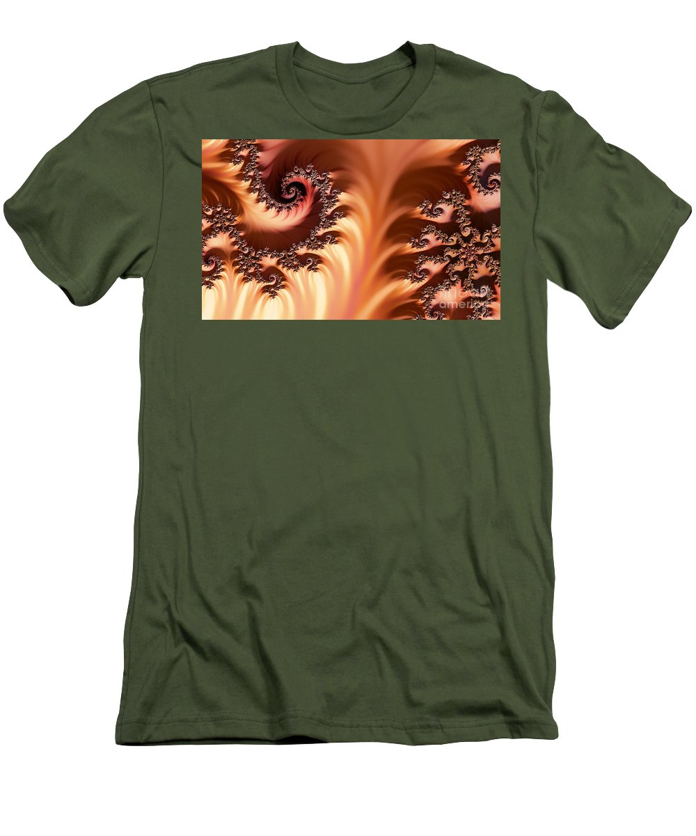 Clay Men's T-Shirt (Athletic Fit) featuring the digital art Fractal Desert by Clayton Bruster