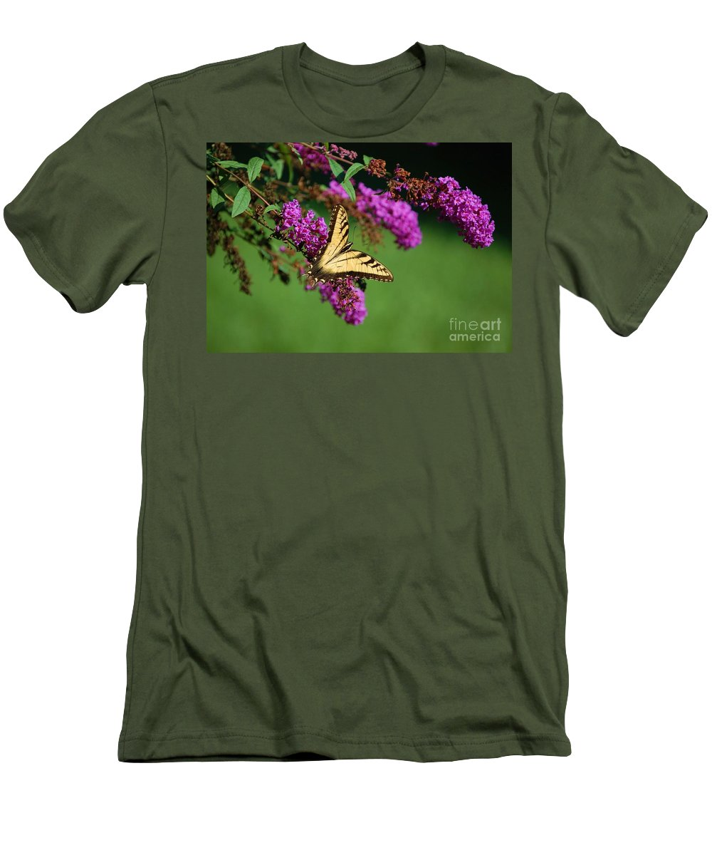 Butterfly Men's T-Shirt (Athletic Fit) featuring the photograph Freedom by Debbi Granruth