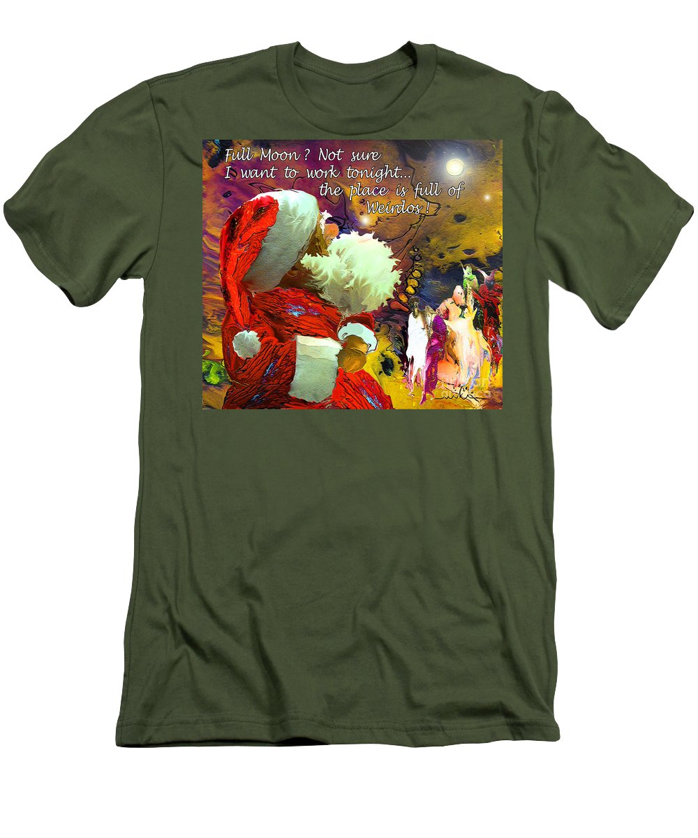 Fantasy Painting Men's T-Shirt (Athletic Fit) featuring the painting Full Moon by Miki De Goodaboom