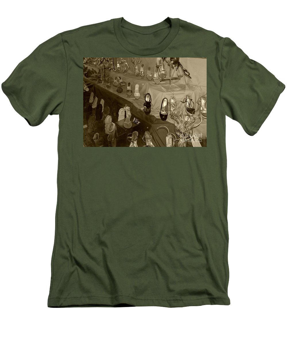 Shoes Men's T-Shirt (Athletic Fit) featuring the photograph Girl Cant Have Enough Shoes by Debbi Granruth