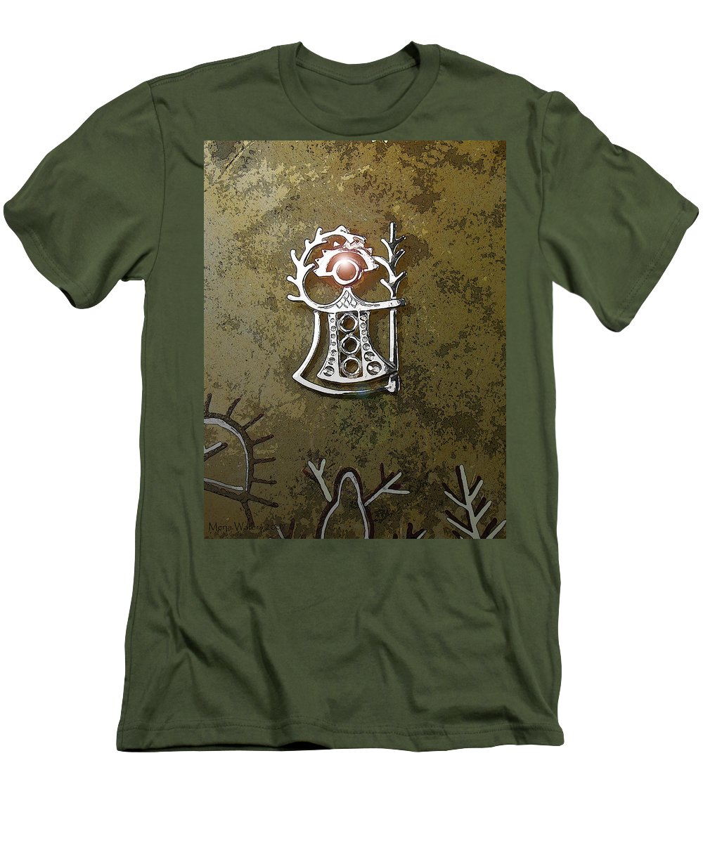 Goddess Men's T-Shirt (Athletic Fit) featuring the digital art Goddess Of Fertility by Merja Waters