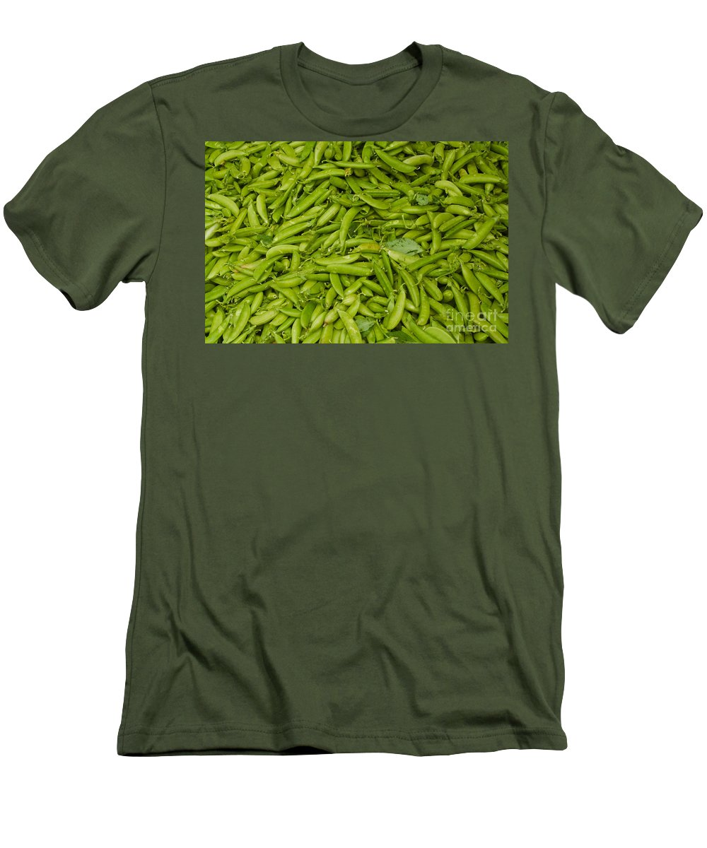 Green Men's T-Shirt (Athletic Fit) featuring the photograph Green Beans by Thomas Marchessault