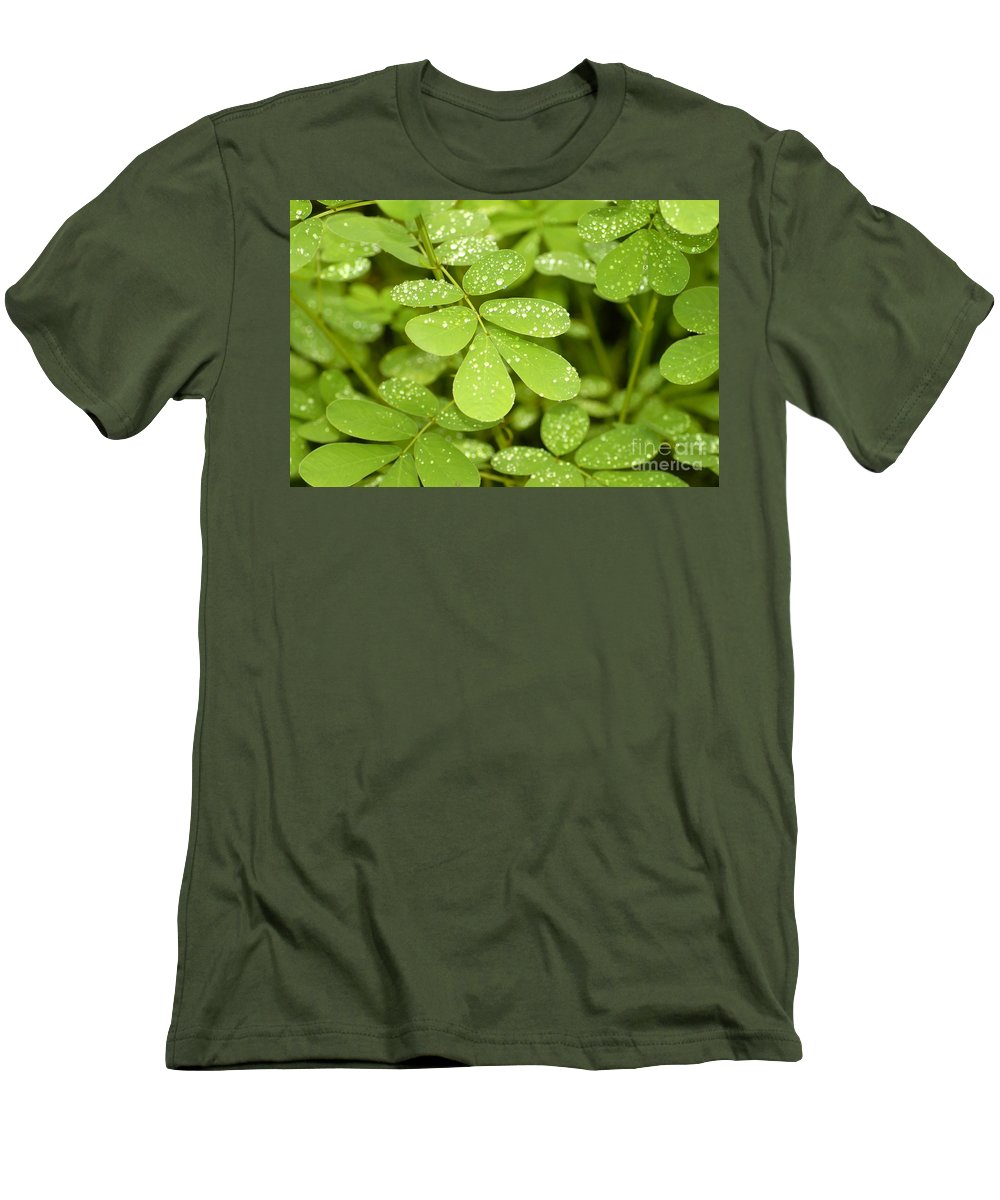 Green Men's T-Shirt (Athletic Fit) featuring the photograph Green by David Lee Thompson