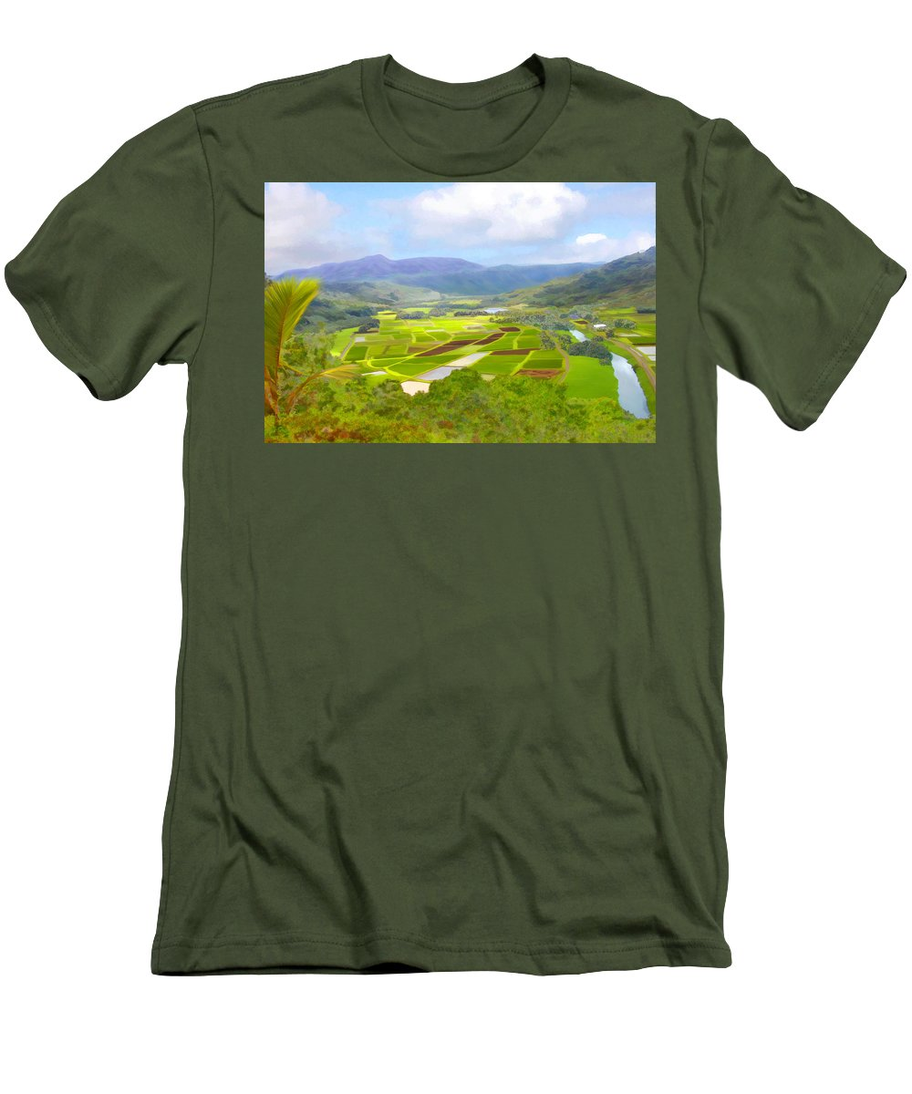 Hawaii Men's T-Shirt (Athletic Fit) featuring the photograph Hanalai by Kurt Van Wagner