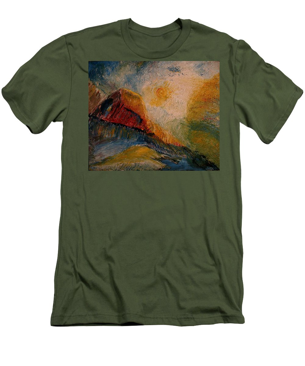 Rede Men's T-Shirt (Athletic Fit) featuring the painting Harvast by Jack Diamond
