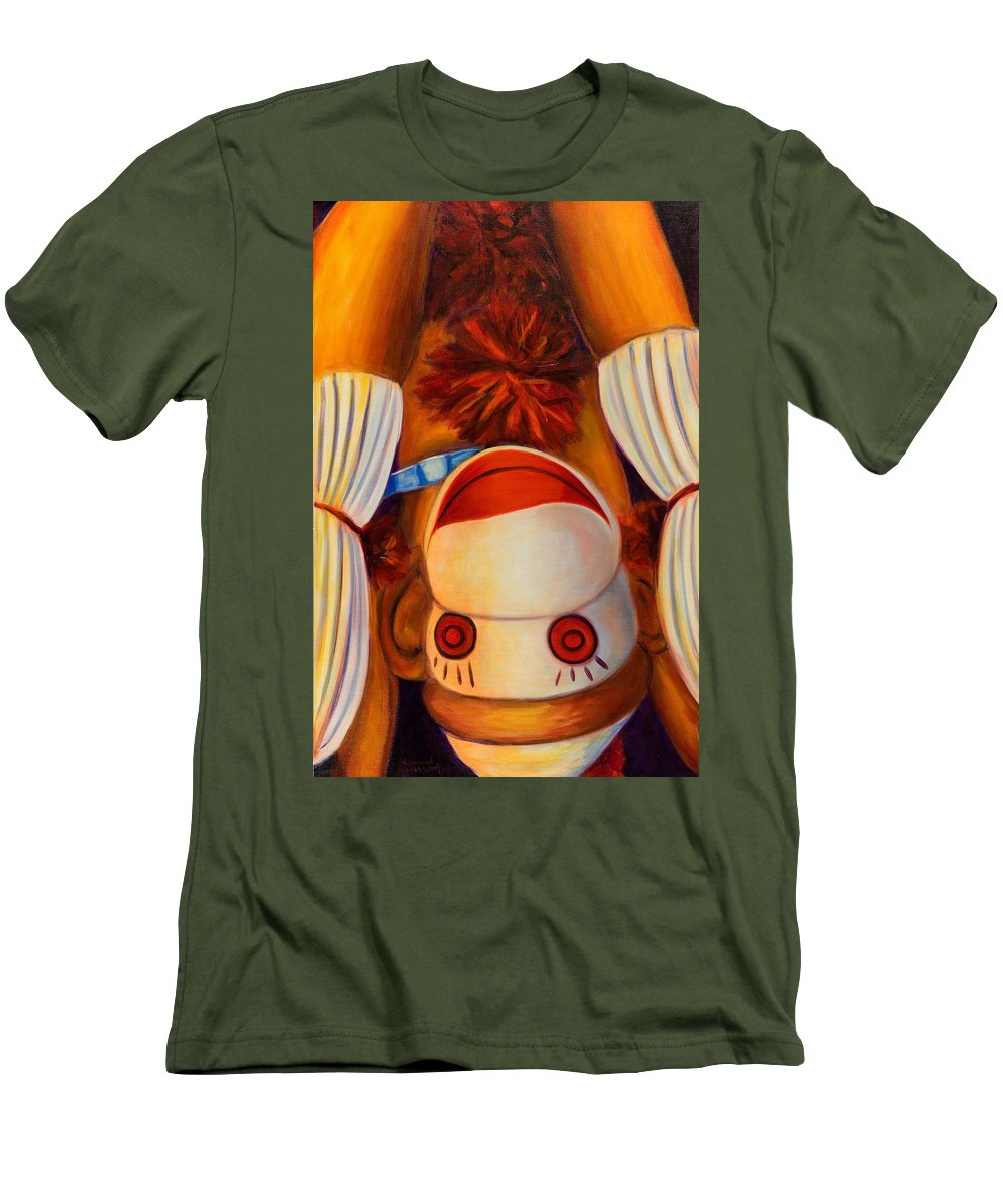 Children Men's T-Shirt (Athletic Fit) featuring the painting Head-over-heels by Shannon Grissom