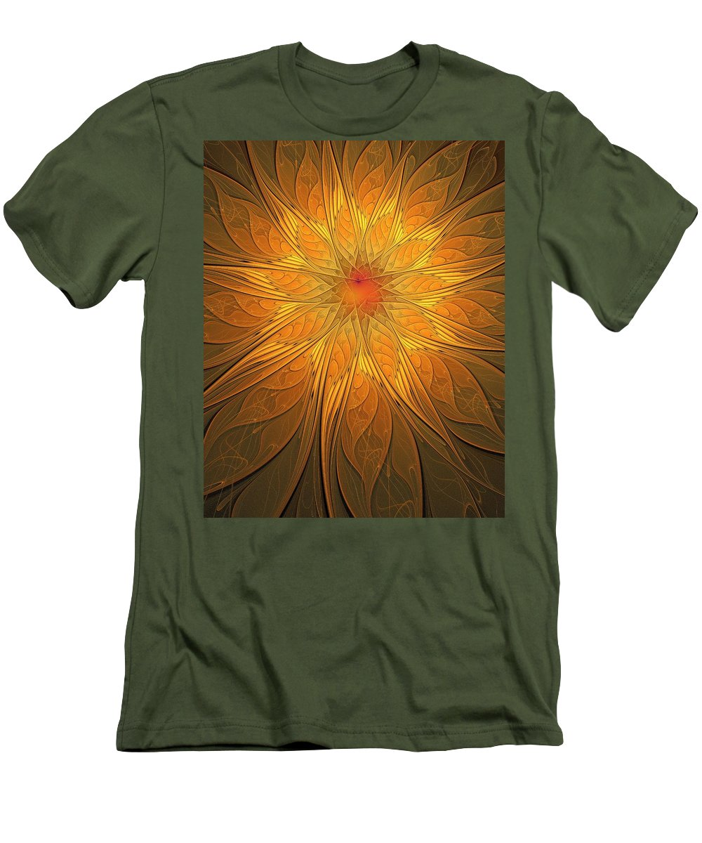 Digital Art Men's T-Shirt (Athletic Fit) featuring the digital art Helio by Amanda Moore