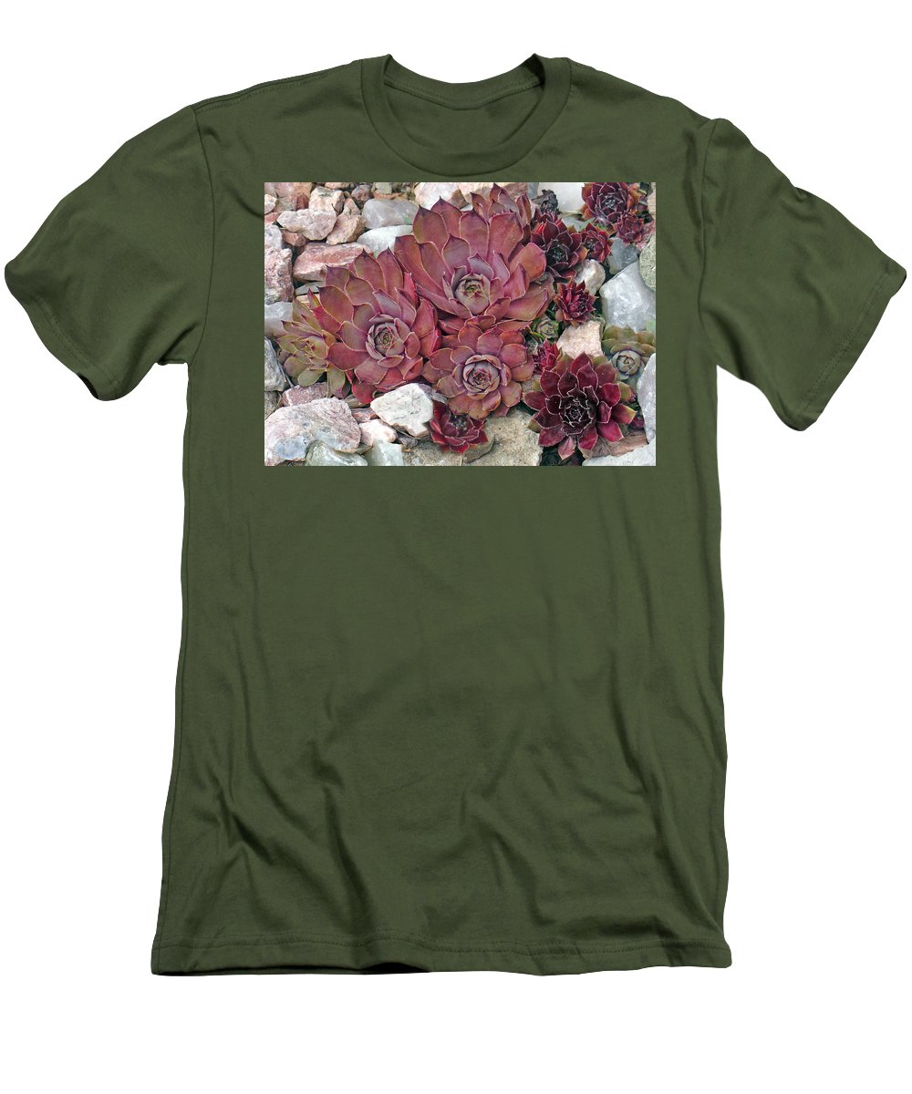 Landscape Men's T-Shirt (Athletic Fit) featuring the photograph Hens And Chickens by Steve Karol