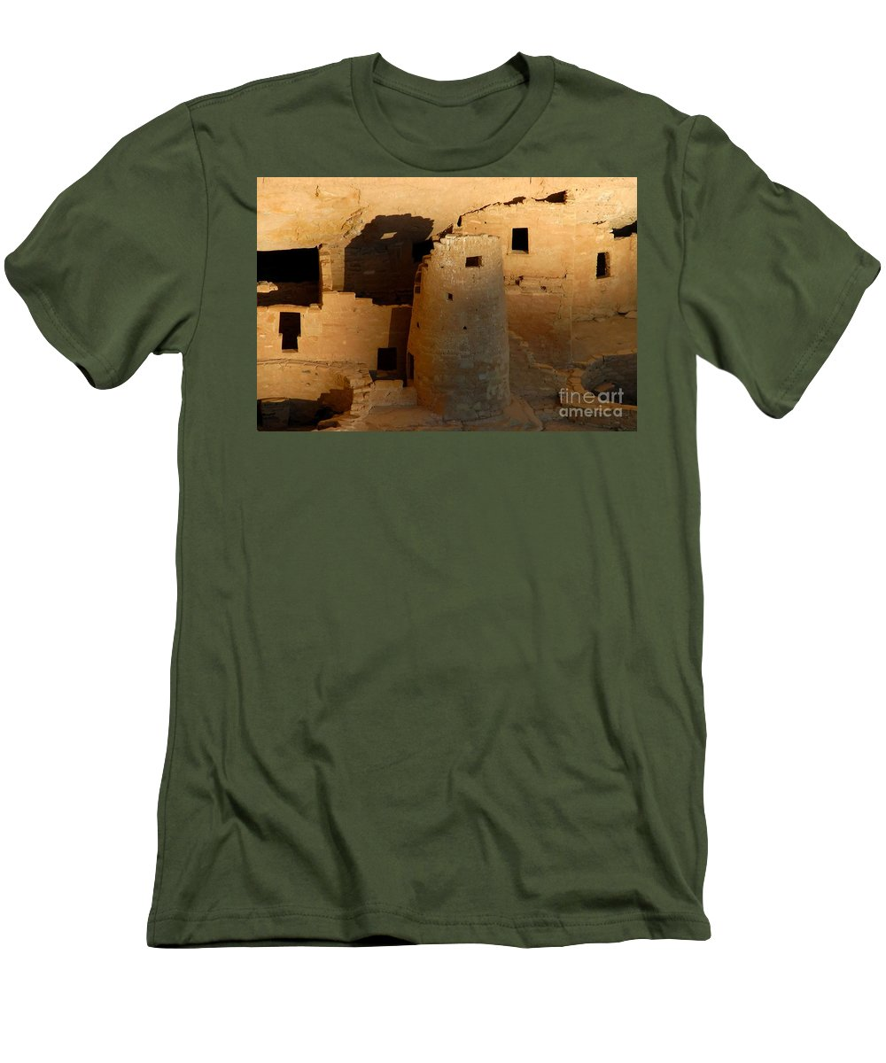 Anasazi Men's T-Shirt (Athletic Fit) featuring the photograph Home Of The Anasazi by David Lee Thompson