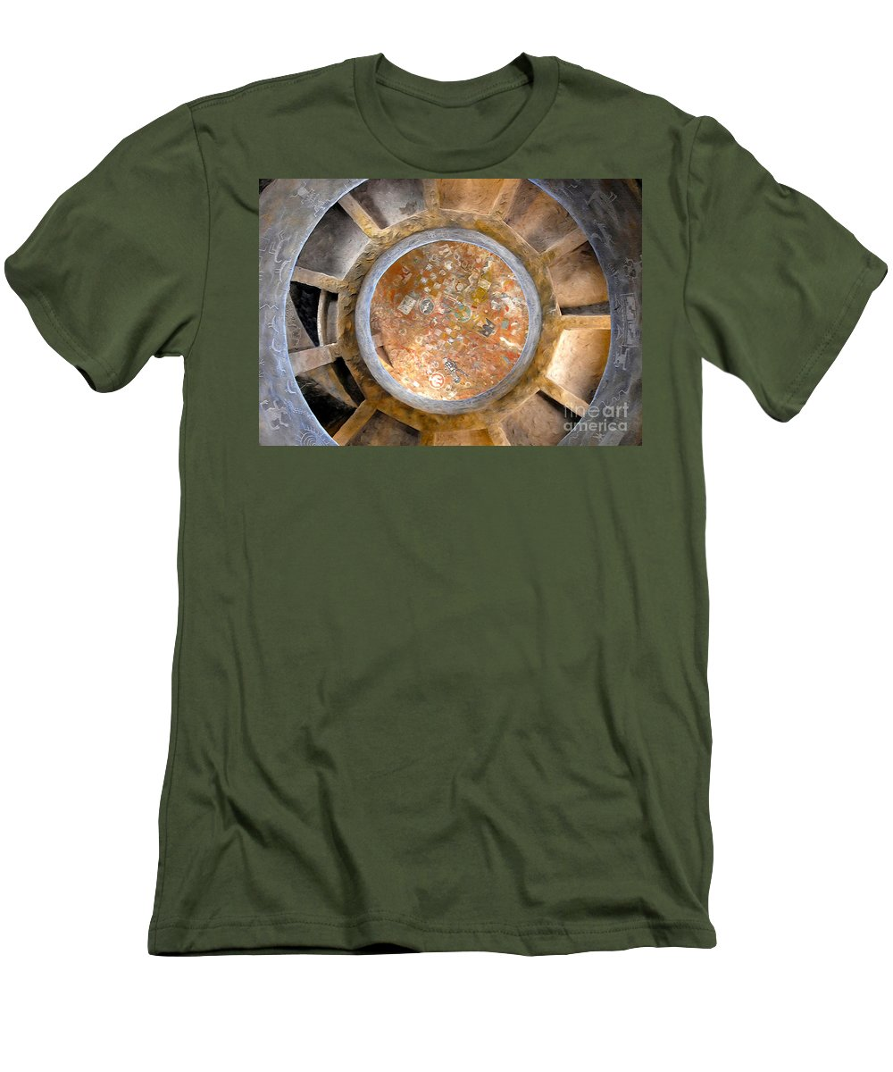 Hopi Indians Men's T-Shirt (Athletic Fit) featuring the photograph Hopi Spirit Circle by David Lee Thompson