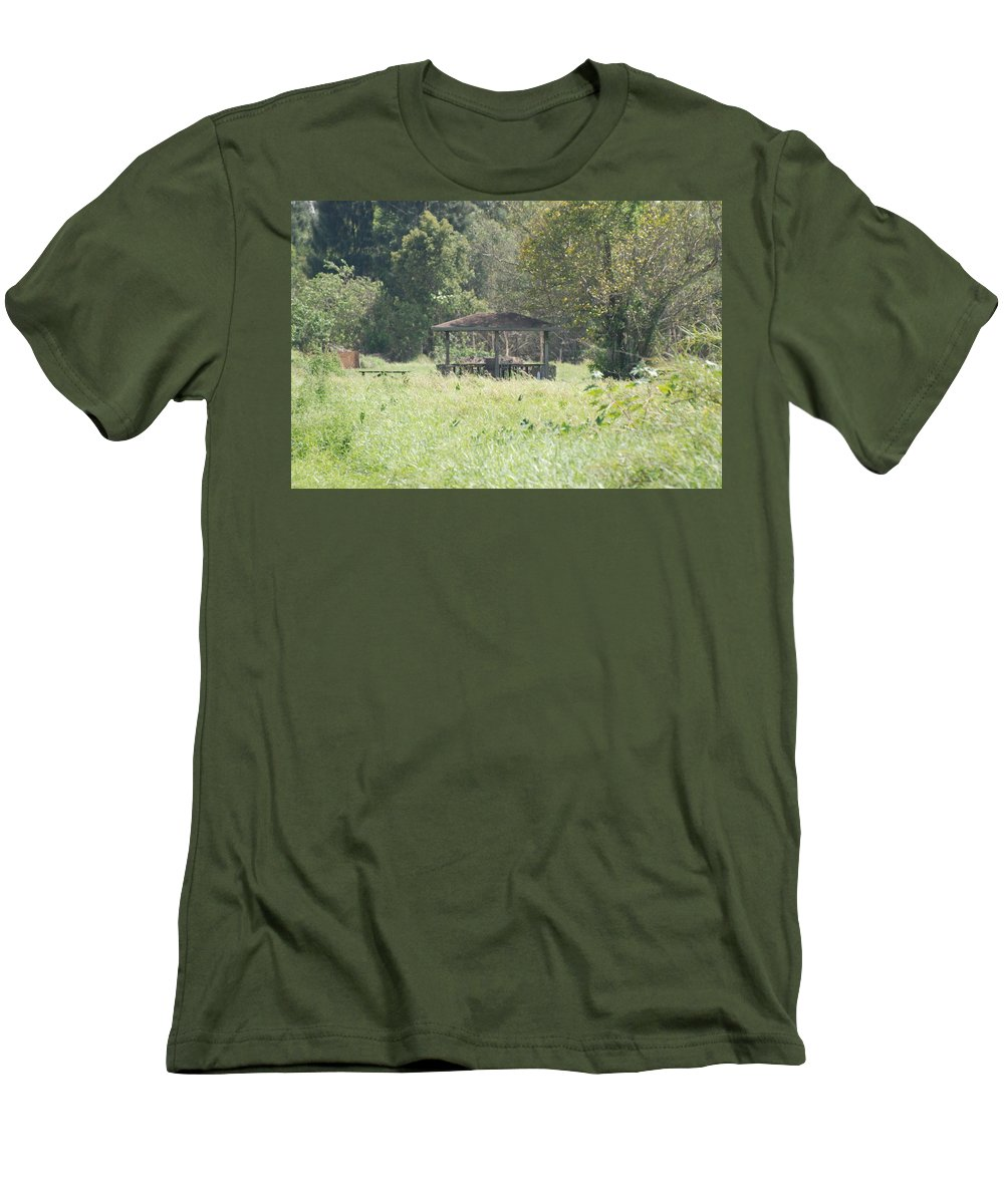 Grass Men's T-Shirt (Athletic Fit) featuring the photograph Huppa In The Fields by Rob Hans