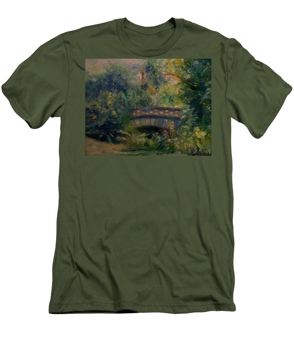 Landscape Men's T-Shirt (Athletic Fit) featuring the painting In The Park by Stephen King