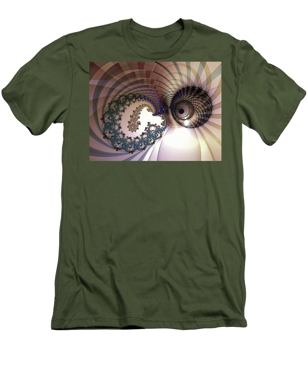 Abstract Men's T-Shirt (Athletic Fit) featuring the digital art Incompatible Elements by Casey Kotas