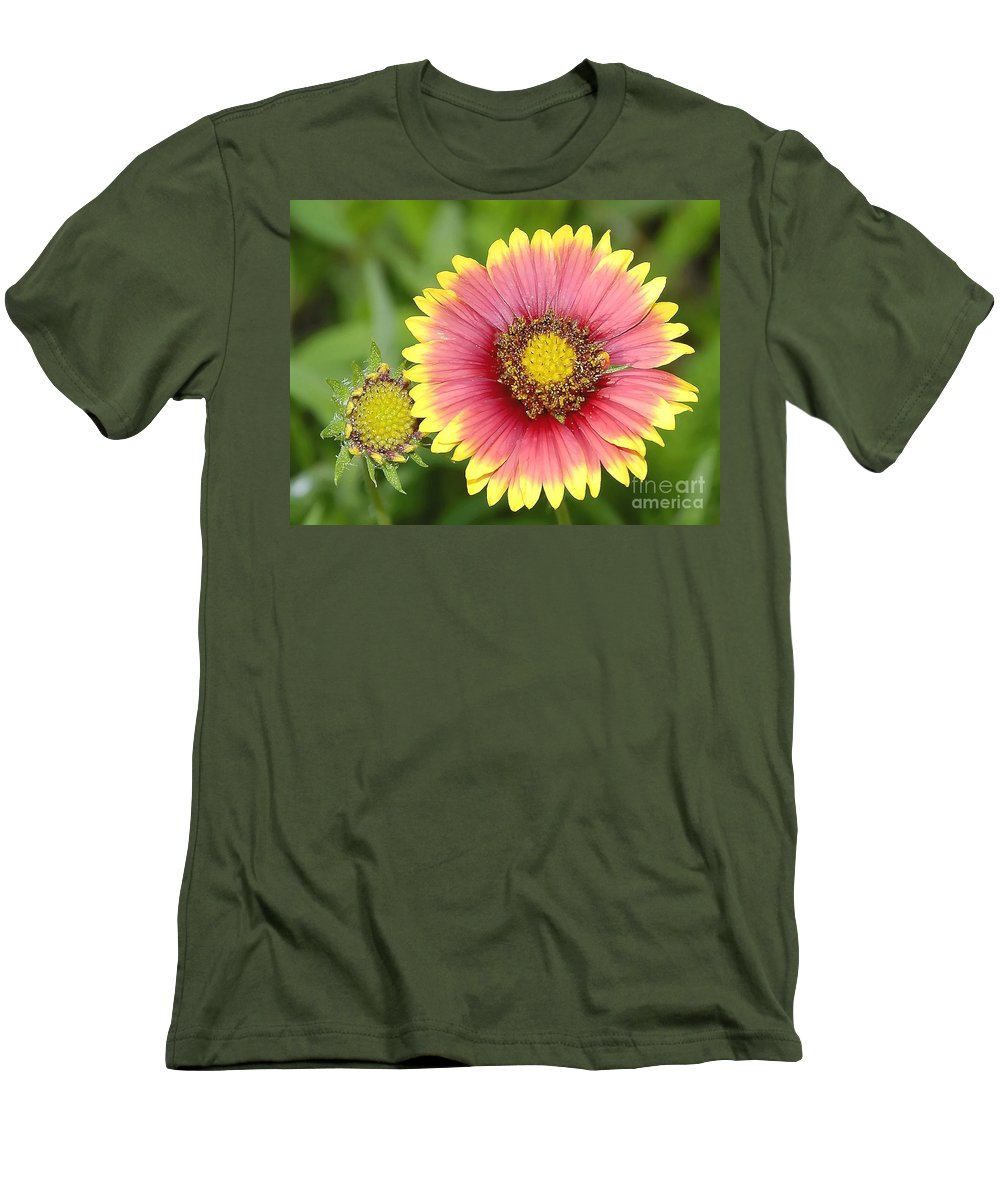 Indian Paintbrush Men's T-Shirt (Athletic Fit) featuring the photograph Indian Paintbrush by David Lee Thompson