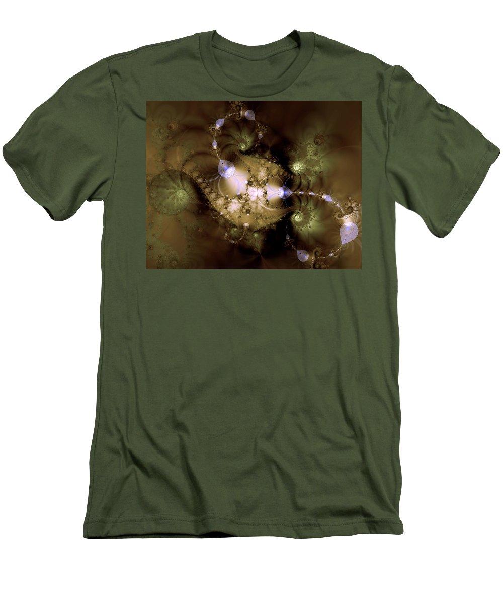 Dimension Men's T-Shirt (Athletic Fit) featuring the digital art Intergalactica by Casey Kotas