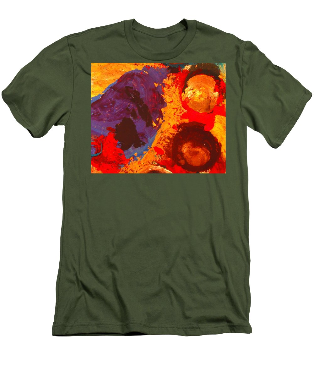 Abstract Men's T-Shirt (Athletic Fit) featuring the painting Interplanetary Encounter by Natalie Holland